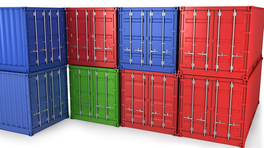 stack shipping containers