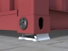 secure locking system connected to shipping container