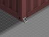 side twist lock connected to shipping container
