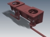 long handle double truck and trailer twist lock