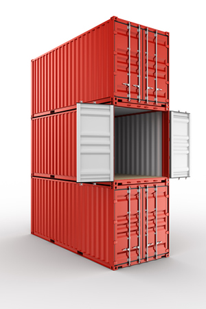 3 stack shipping containers